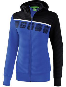 ERIMA 5 C Trainingsjacke mit Kapuze Damen